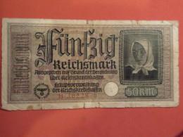 Allemagne 50 REICHSMARK Billet 1940-1945 Ww2 Militaria - 50 Reichsmark