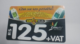 Mauritius-chat Sur Ton Portable-(rs125)-used Card+1card Prepiad Free - Mauritius