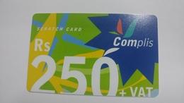 Mauritius-scratch Card Complis-(rs250)-used Card+1card Prepiad Free - Mauritius