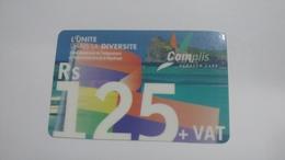 Mauritius-scratch Card-complis-(rs125)-used Card+1card Prepiad Free - Mauritius