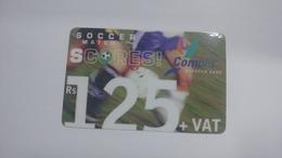 Mauritius-scratch Card-complis-scores!(rs125)-used Card+1card Prepiad Free - Mauritius