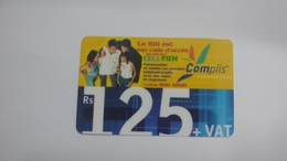 Mauritius-scratch Card-complis-cell Fun(rs125)-used Card+1card Prepiad Free - Mauritius