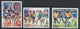 Djibouti YT 509-511 XX / MNH Sport Football Rugby - Djibouti (1977-...)