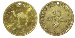 02649 GETTONE TOKEN JETON FICHA VENDING ADVERTISING CIGARETTES CAMEL 1956 - Etats-Unis