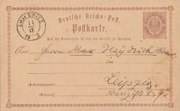 DR Ganzsache Nachv. Sachsenstempel Loschwitz 11.7.74 - Briefe U. Dokumente
