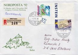 Postal History Cover: Liechtenstein R Cover From Nordposta 92 - Liechtenstein