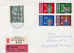 Postal History Cover: Liechtenstein R Cover With Full Set - Covers