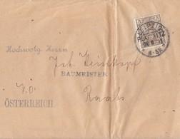 DR Streifenband EF Minr.54 KOS Leipzig-Plagwitz 20.6.01 Gel. Nach Österreich - Deutschland