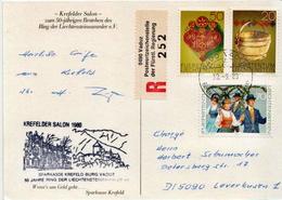 Postal History Cover: Liechtenstein R Card From Krefelder Salon - Liechtenstein