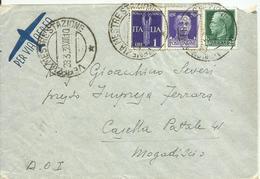 VE3Cb239-Lettera Posta Aerea Per Mogadiscio Pura Imperiale 28.3.1939 - Bella - 1900-44 Victor Emmanuel III