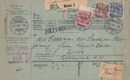 DR Paketkarte Mif Minr.47 ZW Oben, 48,50 Bonn 16.12.98 Gel. In Schweiz - Deutschland