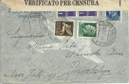 VE3Cb246-Lettera Aerea Per Gli USA Pura Imperiale Ord.+P.A. 02.07.1941 - Bella - 1900-44 Victor Emmanuel III