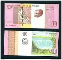 ANGOLA  -  2012 10 Kwanzas  UNC Banknote - Angola