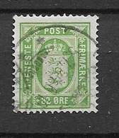 1875 USED Danmark Mi 7 - Dienstzegels