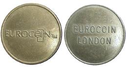 02865 GETTONE TOKEN JETON FICHA MACHINE EUROCOIIN LONDON RELIEF - Unclassified