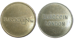 02865 GETTONE TOKEN JETON FICHA MACHINE EUROCOIIN LONDON RELIEF - Royaume-Uni
