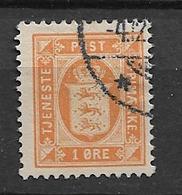 1902 USED Danmark Mi 8 - Dienstzegels