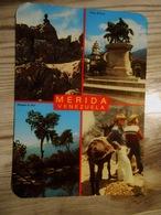AMERIQUE / MERIDA - VENEZUELA  Plaza Bolivar, Parque La Isla ... (voyagée 1984 Avec 2 Beaux Timbres)) - Venezuela
