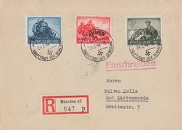 DR R-Brief Mif Minr.874,877,885 München 24.8.44 - Briefe U. Dokumente