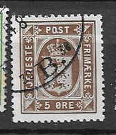 1914 USED Danmark Mi 15 Wmk Crosses - Dienstpost