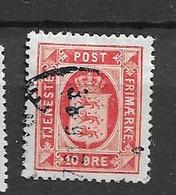 1914 USED Danmark Mi 16 Wmk Crosses - Dienstpost