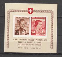 1941  PJ   BLOC  N° 98 I- 99 I  NEUF*  COTE 130.00 FRS.  VENDU A 15% 19.00 FRS.   CATALOGUE ZUMSTEIN - Pro Juventute