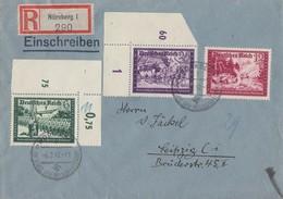 DR R-Brief Mif Minr.705 OER,708,712 UER Nürnberg 6.2.42 - Briefe U. Dokumente