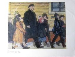 "USSR Soviet Russian Poster A4 ""Lenin And Children"" By Tokarev, 1979 Lénine Et Les Enfants - Posters"