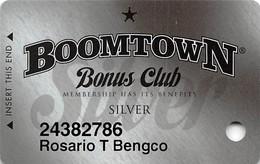 Boomtown Casino Reno, NV - Slot Card - Copyright 2009 - Casino Cards
