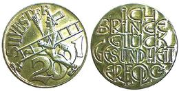 01151 GETTONE TOKEN JETON FICHA COMMEMORATIVE HAPPY NEW YEAR SILVESTER 2001 - Allemagne
