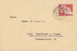 DDR Brief EF Minr.274 Dresden 26.9.50 - DDR