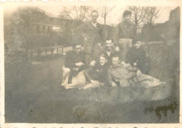 PHOTO ORIGINALE   GROUPE DE SOLDATS    FORMAT  8.50 X 6 CM - Guerre, Militaire