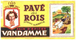 P V /Buvard N° 3 Pain D'épices Vandamme (Format 10 X 18) (N= 3 A) - Pain D'épices