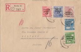 SBZ R-Brief Mif Minr.185,189,192,194,195 Berlin 14.8.48 Gel. Nach Italien - Sowjetische Zone (SBZ)