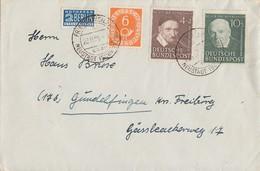 Bund Brief Mif Minr.126,143,144 Friedenweiler 28.11.51 - BRD