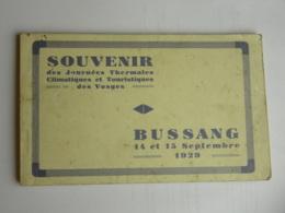 CPA (88) Vosges - Bussang 14 Et 15 Septembre 1929 - Souvenir Des Journées Thermales - Carnet De 8 Cartes - Bussang