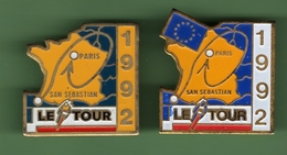 CYCLISME *** TOUR DE FRANCE 92 *** Signe STARPIN'S *** Lot De 2 Pin's Differents *** 0092 - Cycling