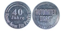 01924 GETTONE TOKEN JETON COMMEMORATIVE ADVERTISING 40 JAHRE KNOW HOW FUR PROFIS AUTOMATEN MARK 1949-1989 - Germany