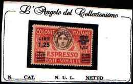 73909)-ITALIA-SOMALIA-1,25 L. Su 30 Besa- Italia Turrita - ESPRESSI - Marzo 1940-MNH** DENT. 14 -RAYBAUDY - Somalie
