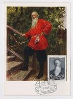 CARTE MAXIMUM CM Card USSR RUSSIA Stasov Music Critic Art Painting Repin - 1923-1991 USSR