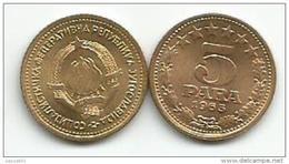 Yugoslavia 5 Para 1965. KM#42 High Grade - Yougoslavie
