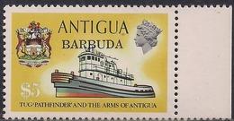 Antigua & Barbuda 1973 QE2 $5 Pathfinder Tug Umm SG 121 ( H1064 ) - Antigua & Barbuda (...-1981)