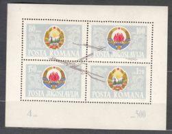 Yugoslavia Republic 1965 Mi#Block 10 Mint Never Hinged - 1945-1992 Socialist Federal Republic Of Yugoslavia