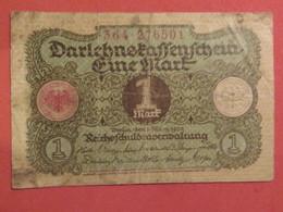 Billet ALLEMAGNE 1 Mark Mars 1920 - MISE A PRIX 0,50€ De Tout Mes Billets ! Pensez A Regrouper Vos Achats ! - [ 3] 1918-1933 : République De Weimar
