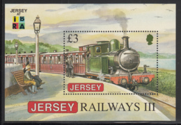 Jersey 2009 MNH Scott #1379a 3pd 2-4-0TCorbiere Locomotive IBRA Emblem - Jersey