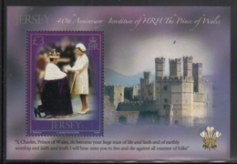 Jersey 2009 MNH Scott #1382 3pd Investiture Of Prince Of Wales, 40th Anniversary - Jersey