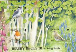 Jersey 2009 MNH Scott #1395 Blackcap. Mistle Thrush, Robin Songbirds - Jersey