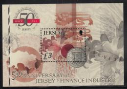 Jersey 2011 MNH Scott #1540 3pd  Coin 50th Anniversary Finance Industry - Monnaies