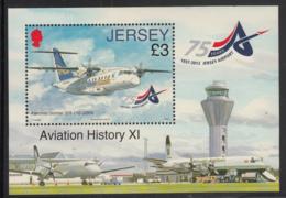 Jersey 2012 MNH Scott #1577 3pd Fairchild Dornier 328-110 Airplane Airport 75th Anniversary - Jersey