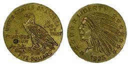 01756 GETTONE TOKEN JETON FICHA REPRO COIN GAMING INDIAN FIVE DOLLARS LIBERTY 1925 - USA